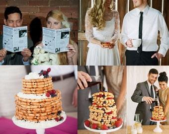 Brunch Wedding Mini Newspaper Program