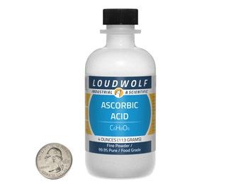 "Ascorbic Acid ""Vitamin C"" / 4 Ounces / Fine Powder / Food Grade / 99.9% Pure / Same Day Shipping"