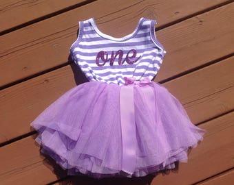 Purple First Birthday Dress
