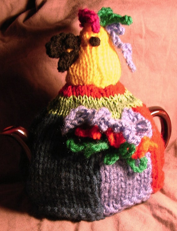 Parrot Tea Cosy Knitting Pattern For 3 Sizes Of Tea Cosy In Double