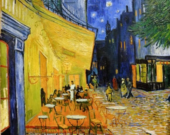 Café Terrace at Night by Vincent Van Gogh - Canvas Art Reprint