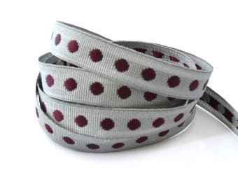 Woven with 10 mm polka dots Ribbon