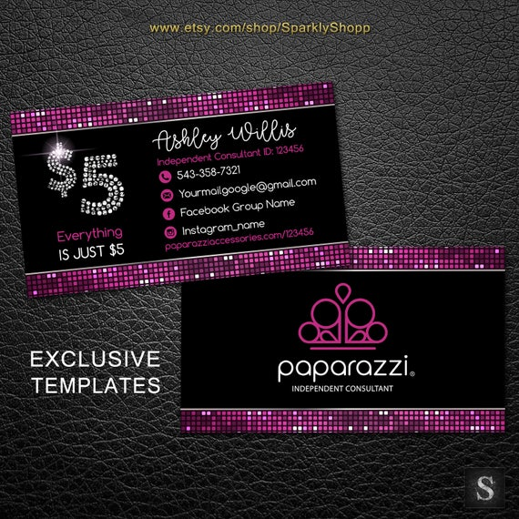 Paparazzi business cards free personalized paparazzi jewelry fbccfo Image collections
