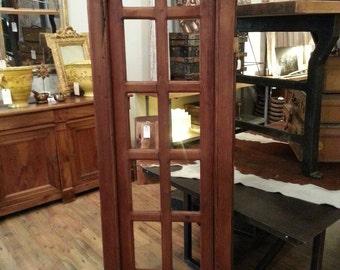 Antique arch top pine window frame.