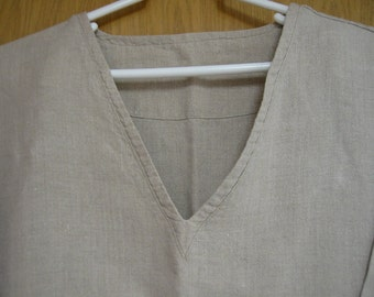 CLEARANCE  natural linen 'Structure' mens top   size XL