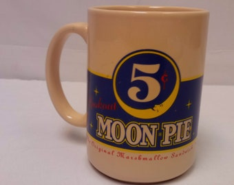 Vtg. Moon Pie 5 Cents The Original Marshmellow Sandwhich Cream Pie Coffee Mug