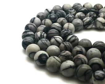 Round Natural Netstone Beads Strand 6∼10mm Beads Netstone Stone Netstone Gemstone Netstone Mala Netstone Round Netstone