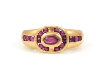 Channel-Set Ruby Ring 14K Gold - X4472