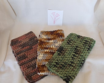 Crochet Dishcloths Washcloths Handmade Shower Housewarming Mens Gifts