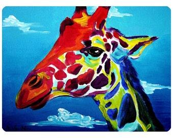 Giraffe In Clouds Safari Animal Wall Decal - #59980
