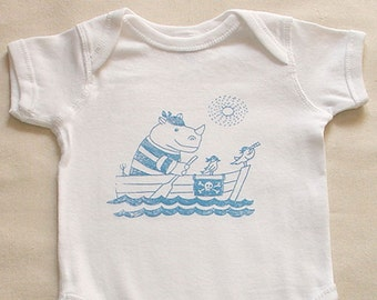 Baby body suits Rhino Pirates, pink /blue