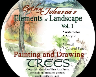 Cathy Johnson's Elements of Landscape--Painting & Drawing Trees CD