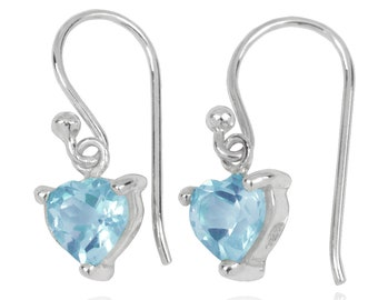 Sky Blue Topaz Sterling Silver Drop Earrings