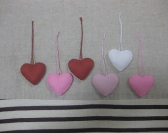 Felt heart ornament (sweet mix)