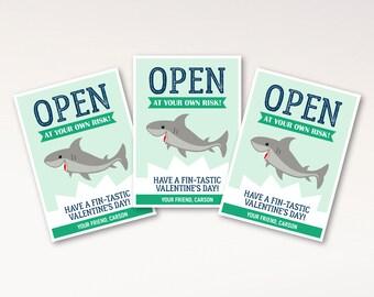 Shark Valentine Cards for Kids
