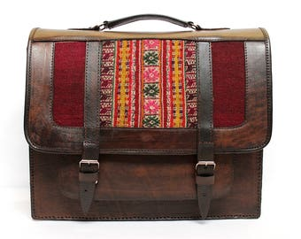 SALE 15% OFF* Genuine Leather Briefcase, Leather Messenger Bag, Leather Satchel, Shoulder Bag, Vintage briefcase, brown briefcase
