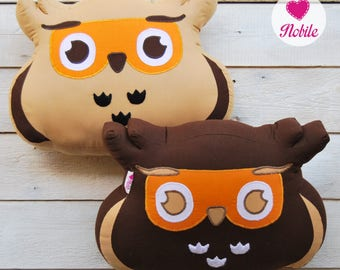 Owl pillow, animal pillow, owl decor, owl cushion, decorative pillow, stuffed owl, owl home decor, owl gift, owl toy, animal pillow,
