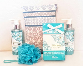 Spa and Relaxation Gift Basket / Blue Spa Basket