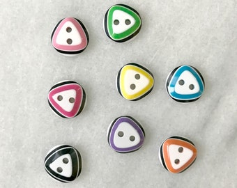 Rainbow Buttons - Set of 8
