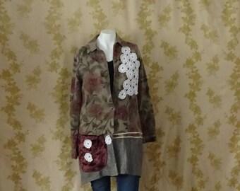 Romantic Edwardian Jacket Boho Chic Upcycled Clothing by OlliesRomanceDesigns