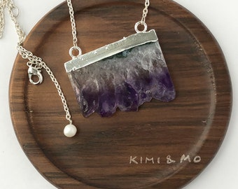 Natural Amethyst Necklace // Amethyst Pendant // Crystal Necklace // Gemstone Necklace // Gift for Mom