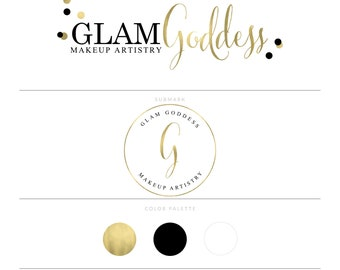 Gold Logo Photography Logo Makeup Artist Logo Lash Logo Branding Package Eyelash Logo Doula Logo Realtor Logo Design MUA Logo Blog Logo