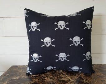 Halloween Skull and Bone Decorative Throw Pillow, Toss Pillow, Pillow cover, Sofa Cushion, Bedroom Decor 16x16