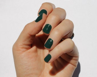 Solid Forest Nail Wraps