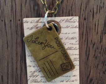 "Love Letter 18"" Charm Necklace - Vintage Style"
