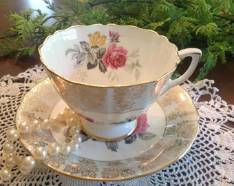 Adderly bone china teacup and saucer