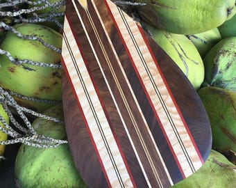 Handcrafted Wooden Outrigger Canoe Paddle