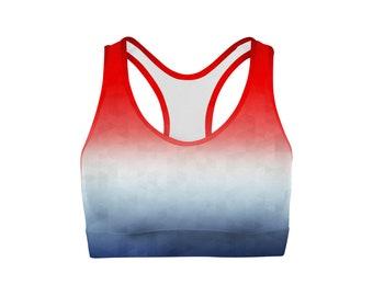 Patriotic Triangles Sports Bra