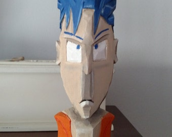 Wooden Hand Carved Goku