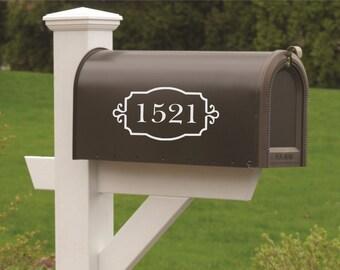 Mailbox Numbers-Vinyl Decal- Set of TWO-Vinyl Numbers-Curb Appeal