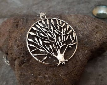 Silver Tree Necklace, Tree of Life Necklace, Tree of Life Jewelry, Antique Silver Tree Charm Pendant Necklace, Silver Jewelry, Gift for her