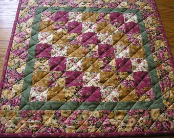 Quilted Table Runner / Topper or Wall Hanging   20 x 20 inches
