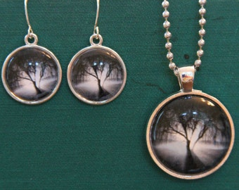 Photograph Necklace and Earrings - 'The Tree'