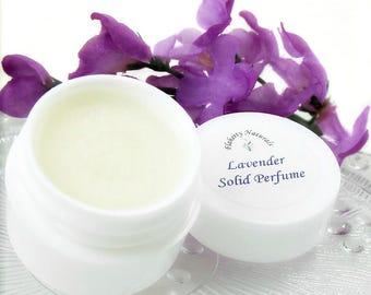 Lavender solid perfume, fragrance oil perfume, natural perfume, solid perfume pot, organic perfume, with Lavender essential oil
