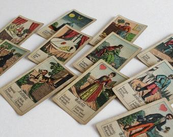 Antique Biedermeier Fortune Telling Cards - Antique Tarot Cards - Fortune Telling Deck