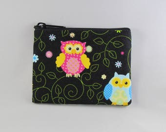 Night Owls Coin Purse - Coin Bag - Pouch - Accessory - Gift Card Holder