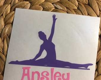 Personalized Gymnast Vinyl Decal