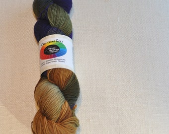 "Superwash Merino, Hand Dyed, Gradient Sock Yarn ""Seaside Botanical"" yarn with Free Shipping."