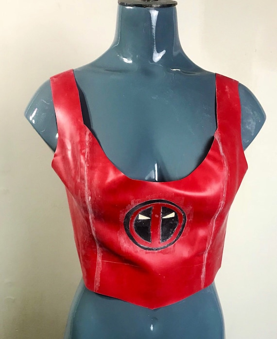 Latex Crop Top Deadpool