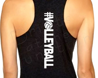 Volleyball Tank/Volleyball Gift/Hashtag Volleyball/Volleyball Practice Tank, #Volleyball Racerback Tank/Volleyball Shirt/Volleyball Gift