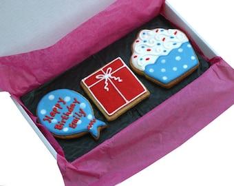 Personalised Birthday Celebration Cookie Box