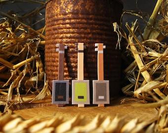 Cigarbox Guitar Small Bluegrass Pixelpin Brooch