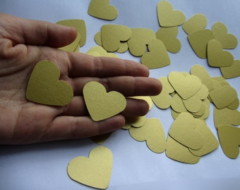 gold table confetti wedding confetti  paper hearts wedding decorations  wedding table decorations  paper hearts decorations  die cut hearts