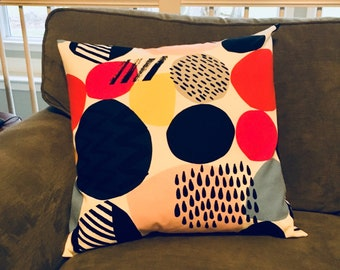 """20"""" Square Pillow Cover Pillow Case, Modern Geometric Design, IKEA fabric, Decorative Accent Pillow, ready to ship"""