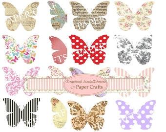 Digital Download Butterflies Embelishments