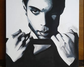 Prince (Musician) Original Portrait Purple Rain Legend Black and White